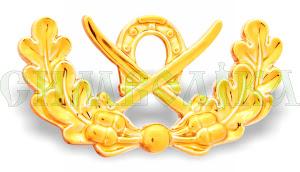 Личка козацька дві шаблі з підковою золота