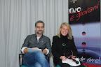 Talk show - l'Attore Beppe Fiorello e la giornalista Susanna Petruni