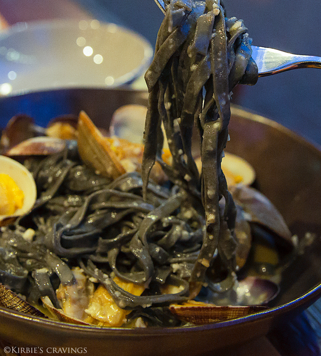close-up photo of Squid Ink Tagliatelle