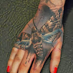 hand butterfly - Hand Tattoos Designs