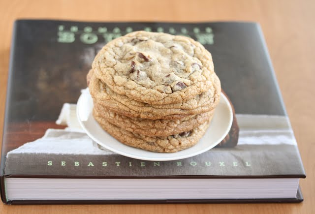 photo of Bouchon's Chocolate Chip Cookies ontop of the Bouchon Bakery Cookbook
