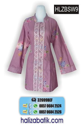 HLZBSW9 Batik Seragam, Blus Batik, Model Baju Terbaru, HLZBSW9