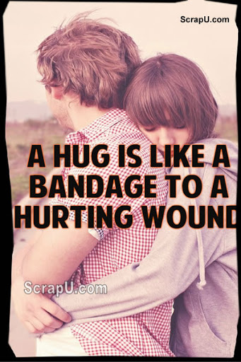 A silent hug means a thousand words Pictures