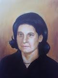 portret kobiety, olej, płótno 50x65cm