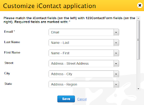 web form icontact integration