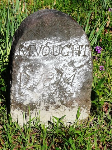 VAUGHT_Mary nee MARTIN_headstone_1814_SearsCem_MuhlenbergKY