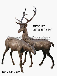 Bronze, Deer, Statue