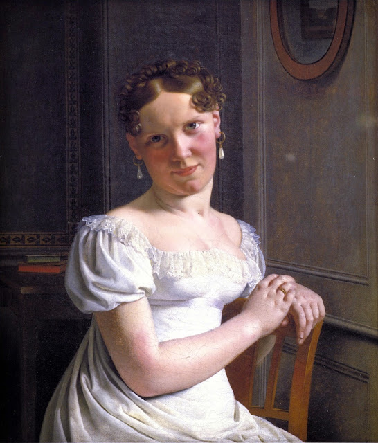 Christoffer Wilhelm Eckersberg - Julie Eckersberg, the Artist's Second Wife