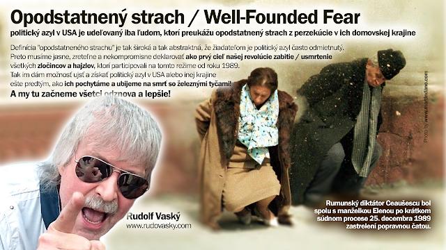 Opodstatnený strach, azyl, Rudolf Vaský