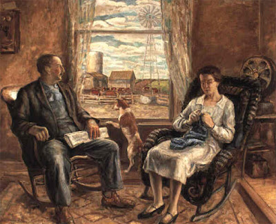 1929, John Steuart Curry, My mother and father
