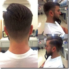Skin fade with a carved part