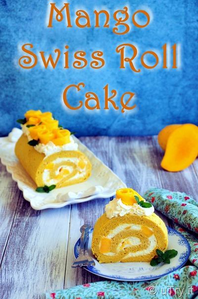 How to Make Mango Swiss Roll (芒果瑞士卷蛋糕)  http://uTry.it