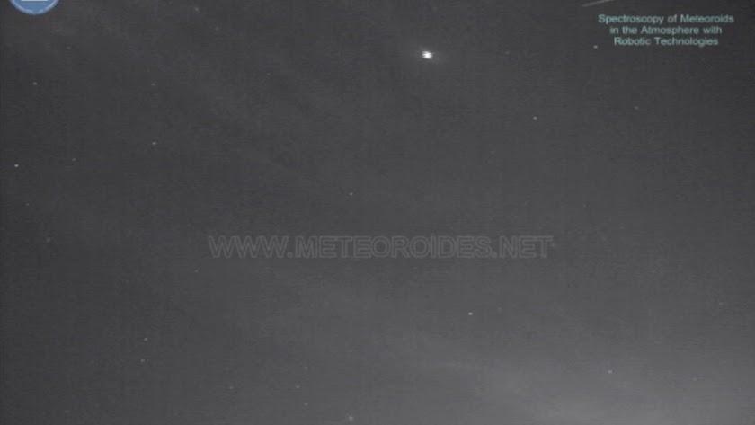 La bola de fuego detectada por observatorios como el de Calar Alto.