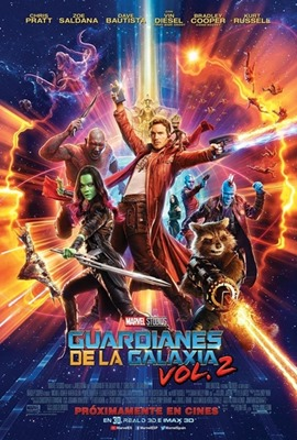 Poster Guardianes de la galaxia vol. 2