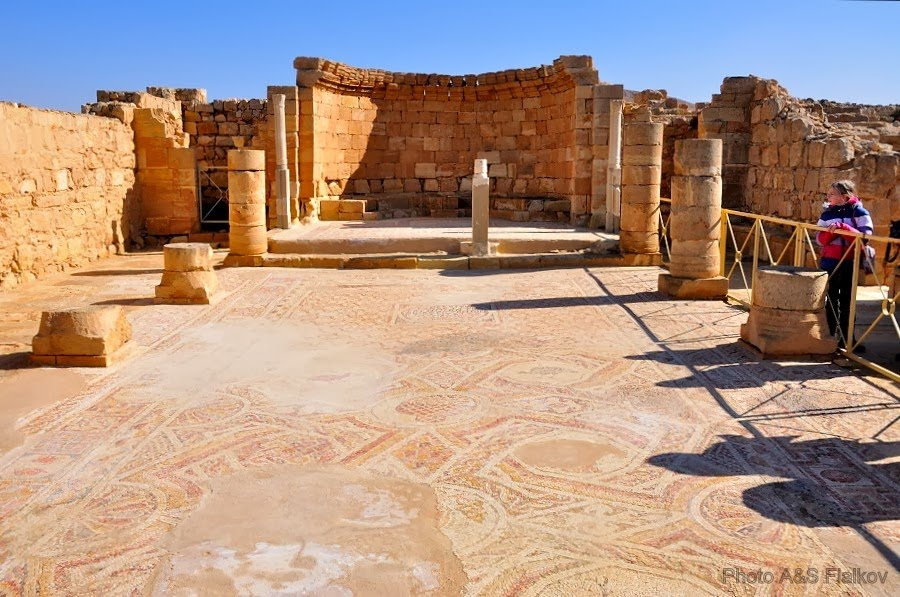 Экскурсия в Негев, Мамшит, церковь святото Нила, византийский период