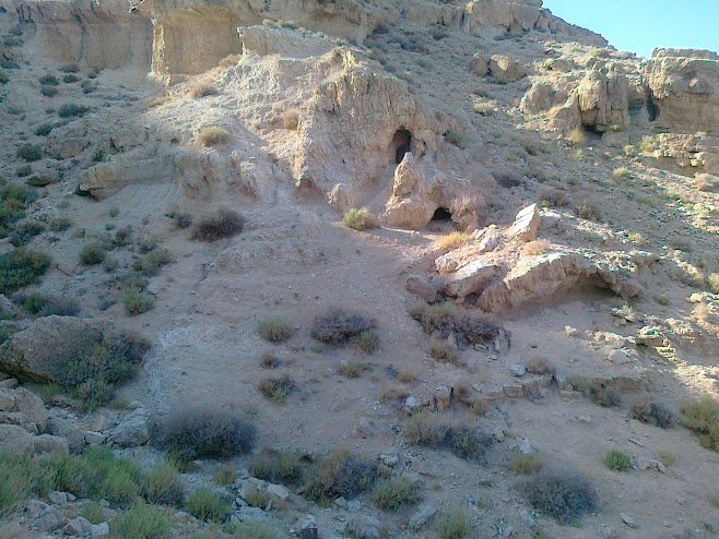 Burial caves of the Second-Temple priests on the side of the mountain to the west of Jericho