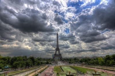 Paris Eiffel Tower HDR
