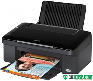 How to reset flashing lights for Epson TX116 printer