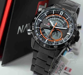 Jual jam tangan Naviforce double time