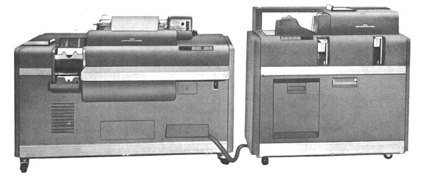 IBM 403 accounting machine connected to a 519 summary punch. Courtesy Columbia University Computing History.