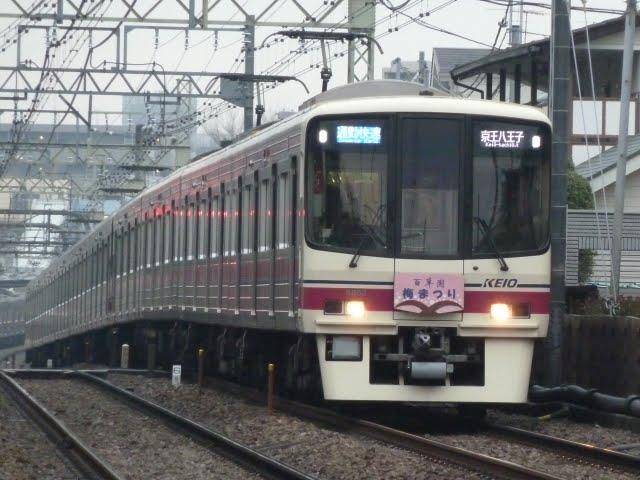 京王電鉄 通勤快速京王八王子行き 8000系 梅まつりヘッドマーク