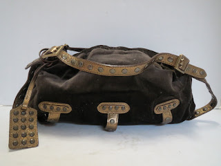 BE & D  Velvet Handbag