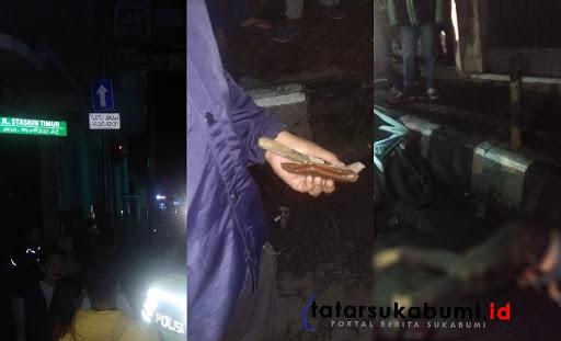 Di tubuh jambret ditemukan sebilah belati / Foto : Dian Syahputra Pasi (22/1/2019)