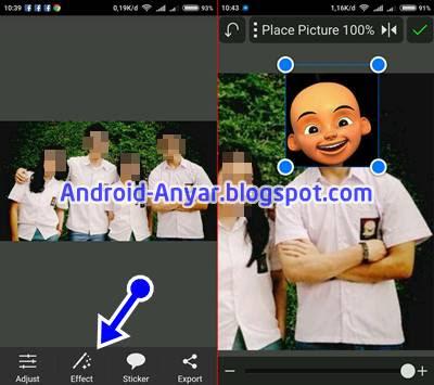 Cara Edit Foto Kartun Kepala Upin Ipin Lengkap di Android