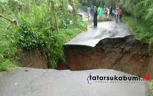 Jalan Kalapanunggal - Parakansalak Dialihkan Akibat Jembatan Cileleuy Amblas