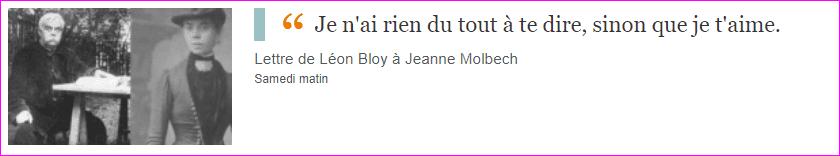 Lettre de Léon Bloy à Jeanne Molbech
