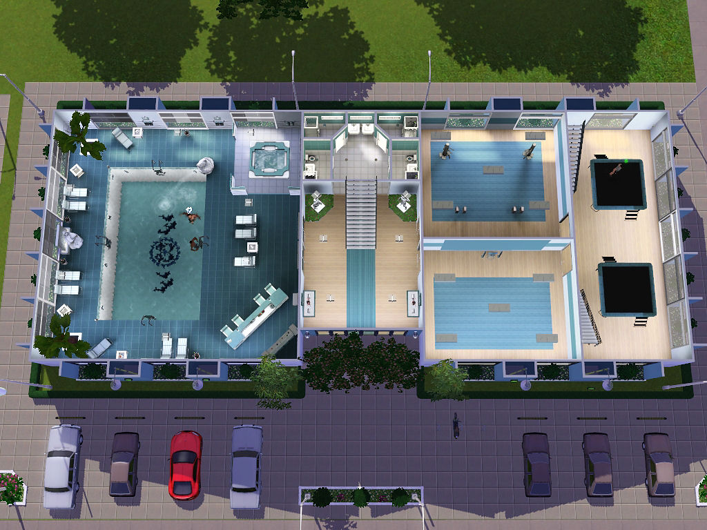 My Sims 3 Blog: Sunset Valley Gym by Nengi65  No CC