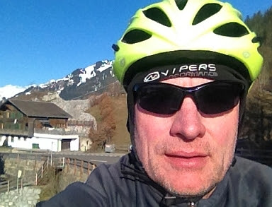 Chris on the Bike: Selfie bei Saanen