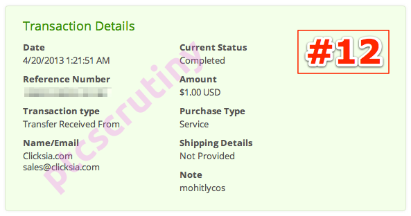 clicksia payment proof