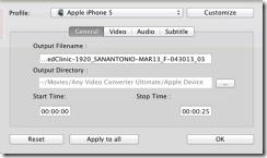 إعدادات برنامج Any Video Converter على الماك