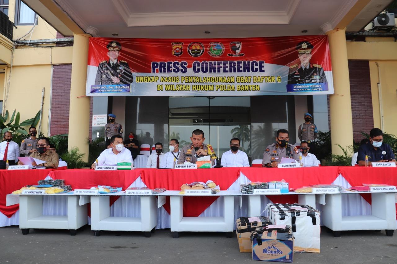 Polda Banten Sita 370.430 Butir, Obat-obatan Terlarang Daftar G