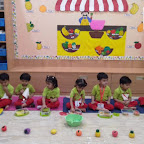Healthy Fruit Salad Day Celebrated by Playgroup Afternoon Section at Witty World, Chikoowadi (2018-19)
