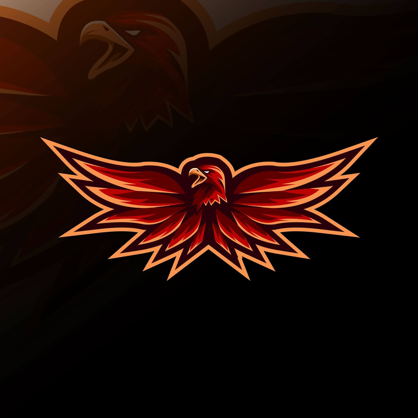 Red Eagle Mascot Logo E Sport Design Free Download Vector CDR, AI, EPS and PNG Formats