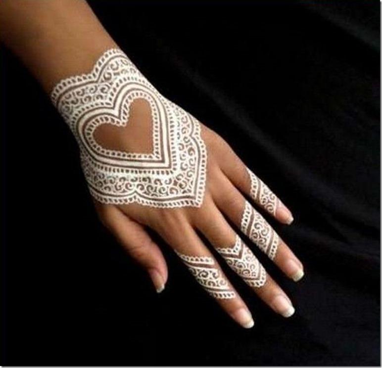 HEART HENNA WHITE