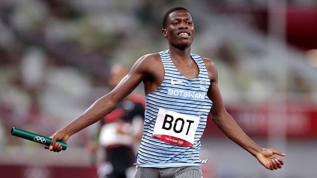 Botswana revezamento 4x400m atletismo Tóquio 2020