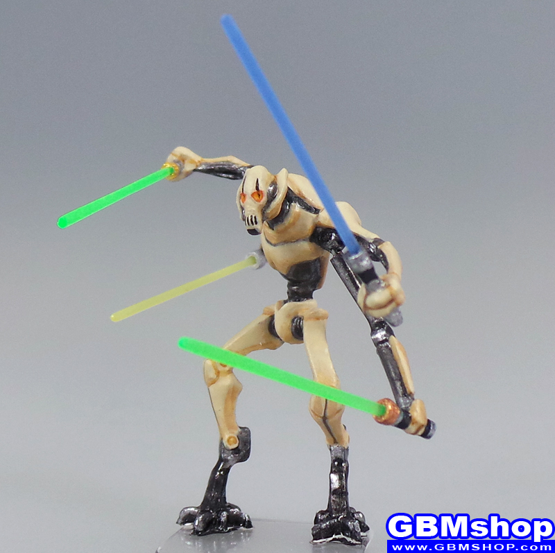 star wars miniature Imperial Assault General Grievous Split Arms, Scourge of the Jedi #10 Galaxy at War Star Wars Minis Custom Customize and Painting