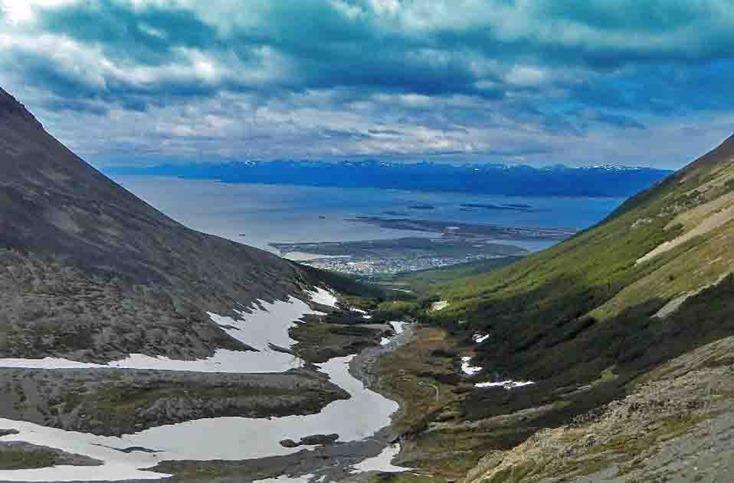 Ushuaia vom Martial Gletscher