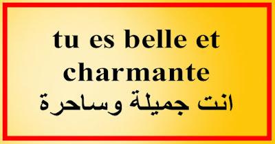 tu es belle et charmante انت جميلة وساحرة