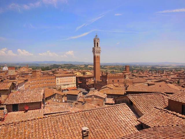 Vistas de Siena desde el mirador del Museo de la Ópera