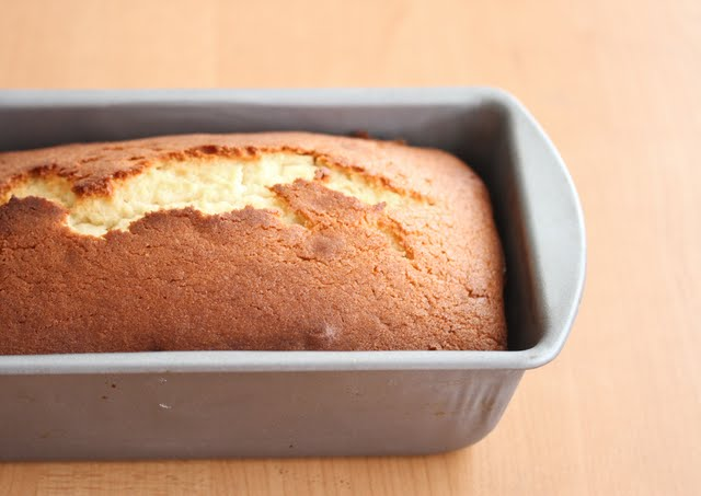 photo of the cake in a pan
