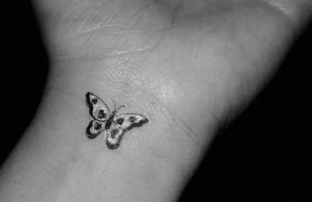Butterfly Wrist Tattoo Design for Women