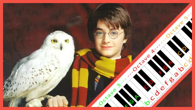 image regarding Harry Potter Theme Song Piano Sheet Music Printable Free known as Hedwigs Concept (Harry Potter) ~ Piano Letter Notes