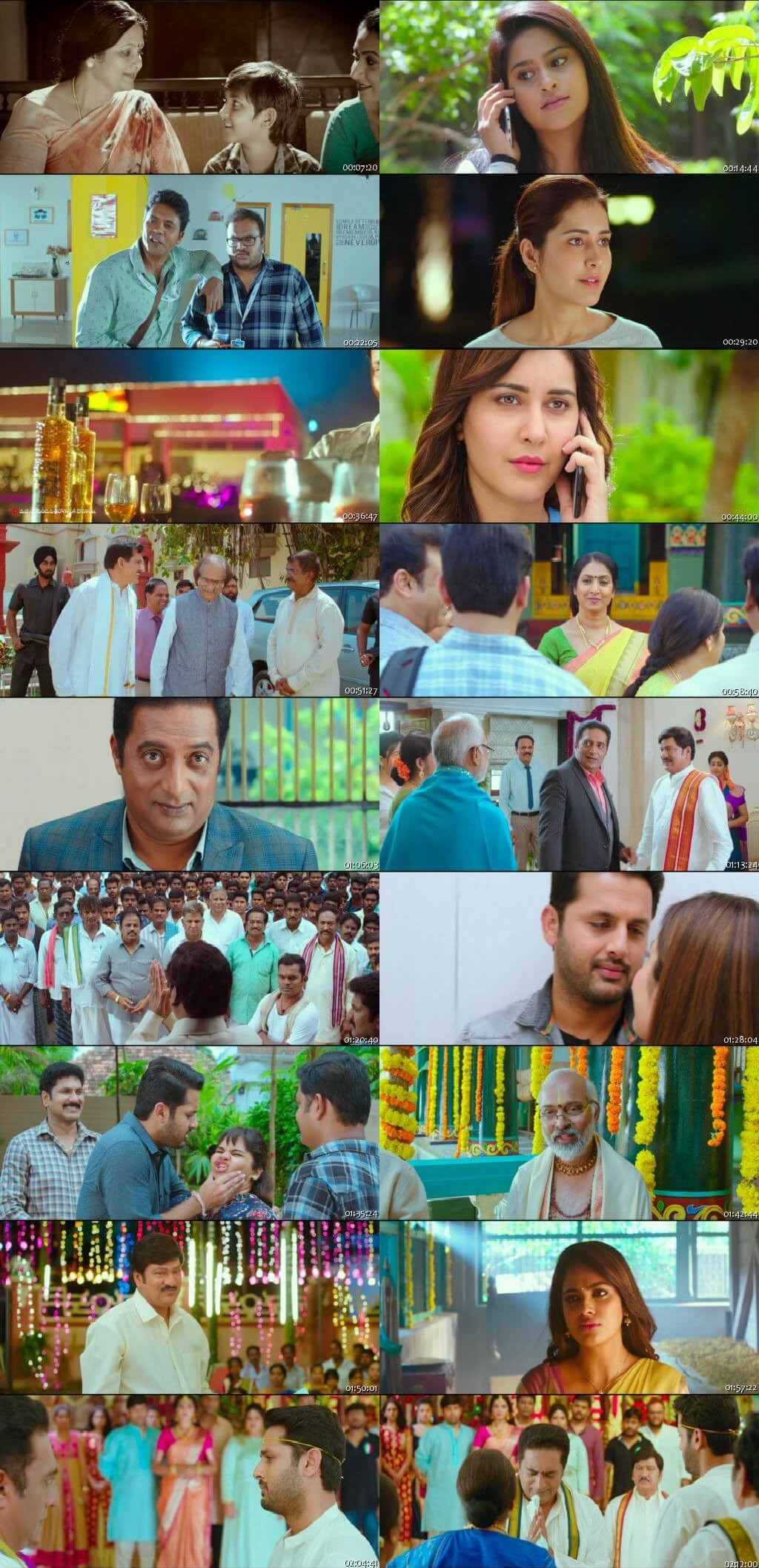 Screen Shot Of Srinivasa Kalyanam 2018 300MB Full Movie Hindi Dubbed Free Download 720P HDRip HEVC