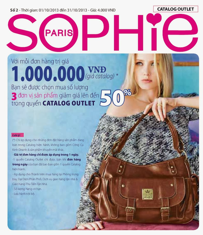 Sophie Outlet khuyến mại 50% tháng 10/2013