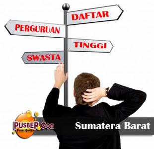 Daftar Perguruan Tinggi Swasta di Sumatera Barat