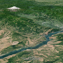 Columbia River Gorge maps and Google Earth views